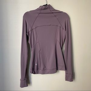 LULULEMON outrun the elements long sleeve 1/2 zip frosted mulberry